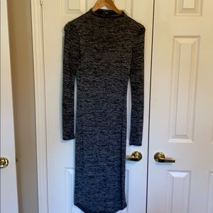 Fitted mock neck dress